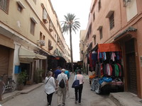 Agadir. Walking to the Taroudant souk.