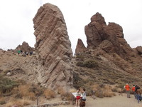 Tenerife. Mt. Tiede park rock formations.