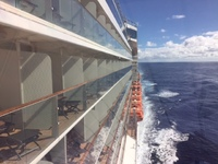 A beautiful day in the Atlantic Ocean onboard Reflection