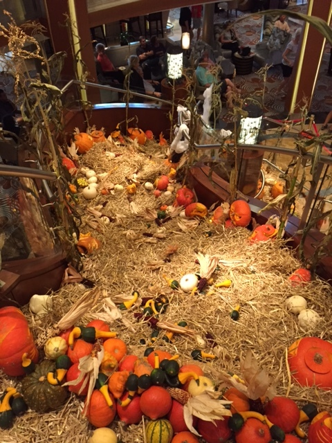 Halloween Decorations on Grand Staircase