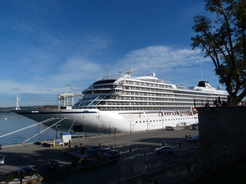Viking Sea berthed in Koper, Slovenia