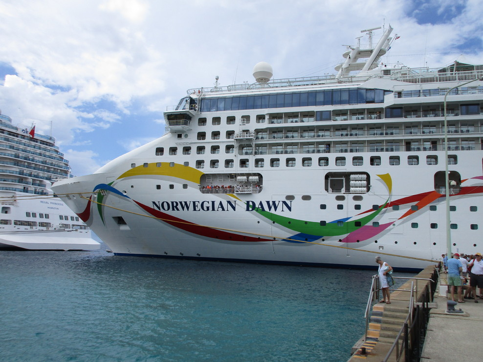 The Graphic On The Port Side Of The Norwegian Dawn Notice The - Port side of a cruise ship