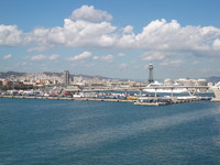 Barcelona, from the ship.