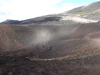 Sicily, Mount Etna. A crater you can walk around.