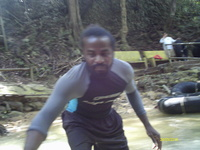 Our Jamaican tubing guy -- very fun!!