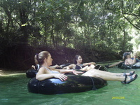 Relaxing on the White River in Jamaica