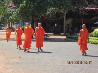 The novice monks at Wat Hanchey.