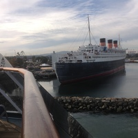 The amazin queen Mary in the port I wished we'd visited before embarkat