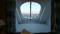 Stateroom window, little mini-solarium!