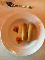 Vegetable Spring Rolls in the main dining room