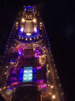 This is the ship at night from the top.