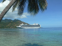 Crown Princess at Moorea, Tahiti
