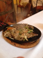 Steak Fajitas At Barrachina's Old San Juan