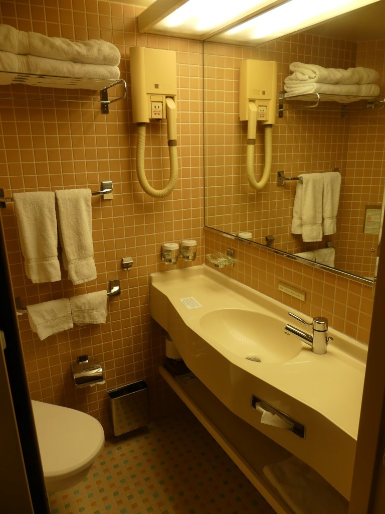 Bathroom in J category cabin 2600.