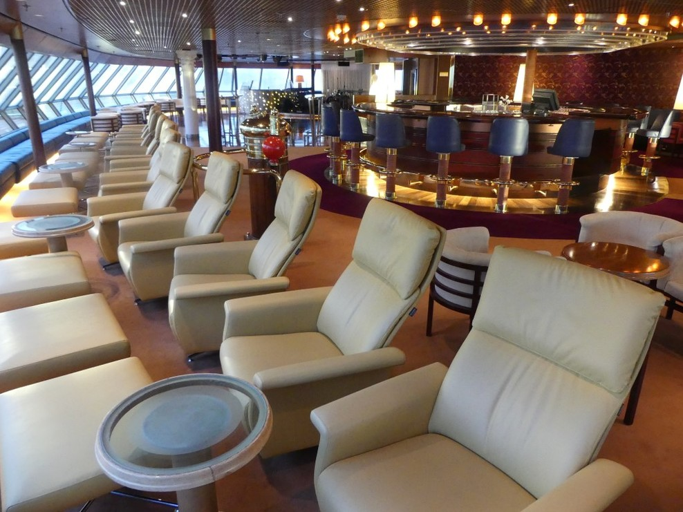 The Crows Nest - a relaxing place to sit on Deck 9 at the front of the ship