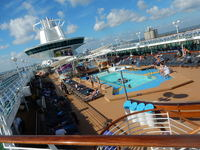 View of the pool deck area.