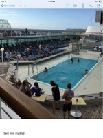 The main pools on Sea Princess