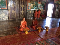 Getting blessed by Buddhist Monks