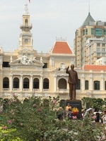 Ho Chi Minh in front of City Hall-Saigon