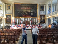 Faneuil Hall, Great Hall. This is where the patriots met before dumping the
