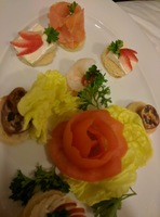 These were most of the canapes from the Honeymoon/Anniversary package. You