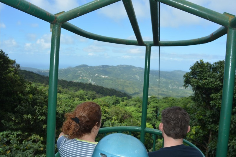 Zip Lining in Barbados