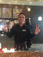Our wonderful Barista at Cafe al Bacio