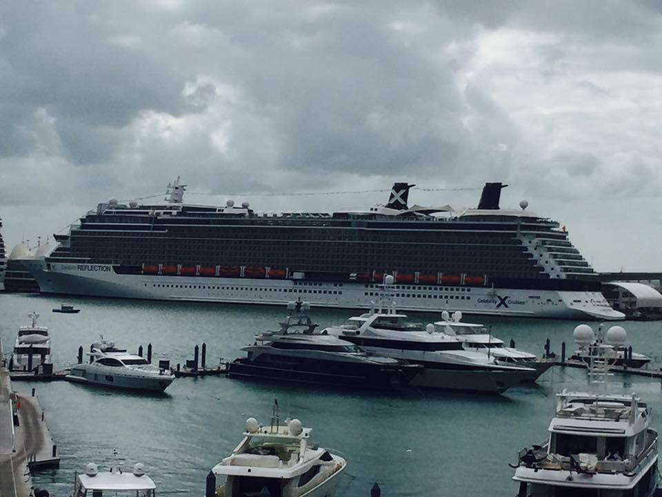 Celebrity Reflection at pier in Miami