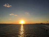 Sunset sailing from Miami
