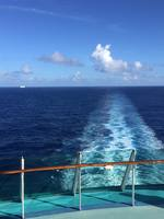 Sailing away from St Kitts