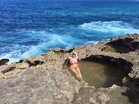 Baja Vega Beach.  They don't want you anywhere near these rocks if the