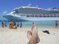 Chillin beach-side in Grand Turk.