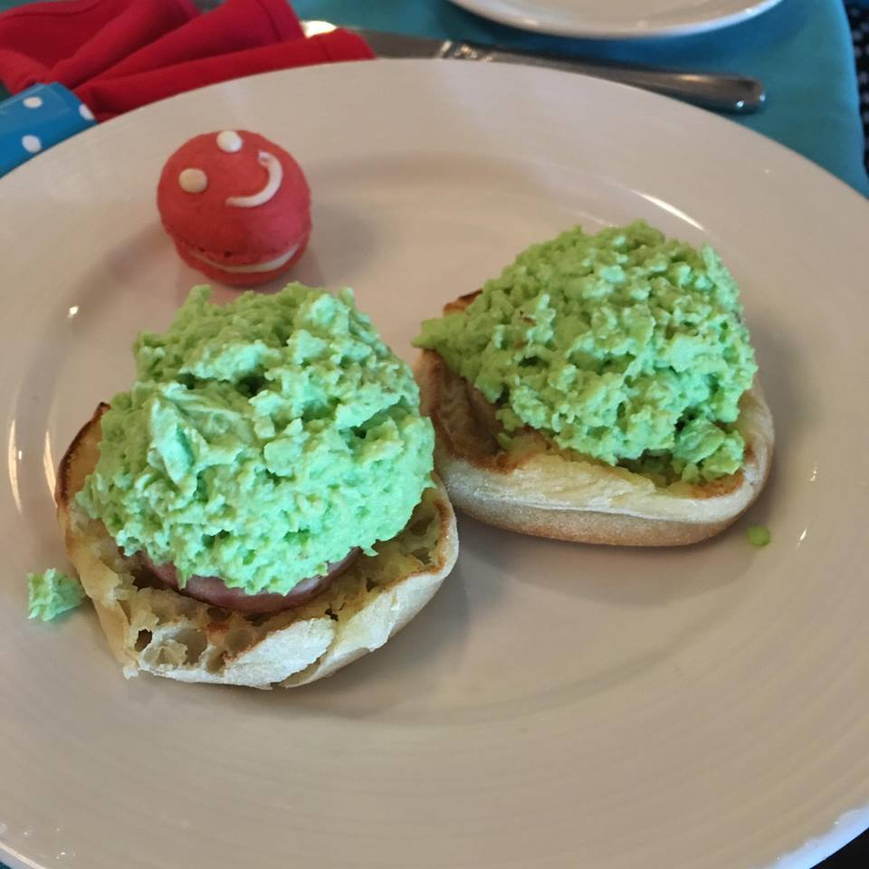 Green Eggs and Ham at Dr. Seuss breakfast