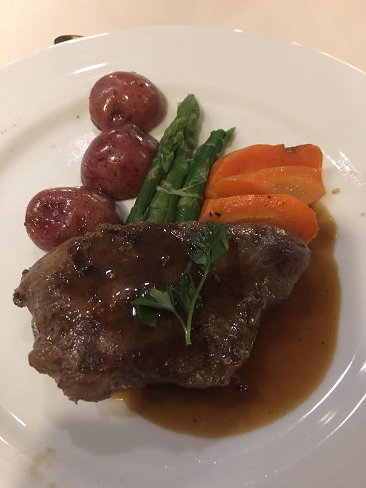 Flat Iron steak with roasted root vegtables