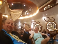 Relaxing and listening to the piano player in the Schooner Bar on Navigator of the Seas.