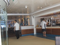 Outside Juice and Tea Station on Ship