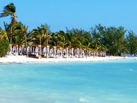 Private beach section at CoCo Cay