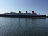 The Queen Mary in Long Beach (as viewed from our Harbor tour) was an easy walk accessed from the ship
