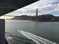 The Golden Gate Bridge while leaving San Francisco is always an exciting view as our adventure is just beginning!