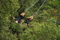 Ziplining upside down in Puerto Vallarta!