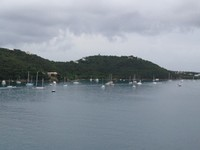 Catamarans in the harbor at St. Thomas.