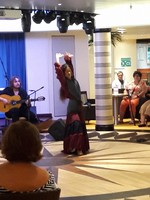 Flamenco dancing demo on embarkation day
