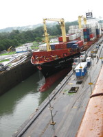 Another ship in a Panama Canal Lock