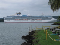 Coral Princess on Gatun Lake in Panama