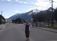 This is a picture of me in Skagway saying, I