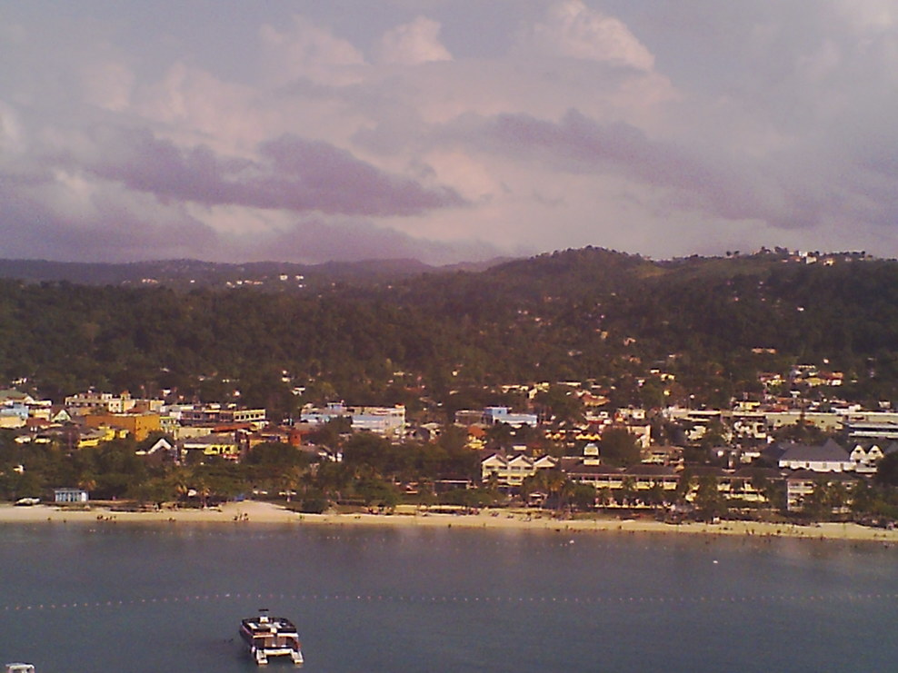 My first view of Jamaica