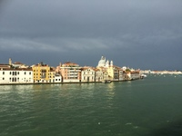 Sailing out of Venice.