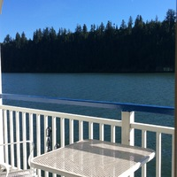 On the Columbia River between Oregon and Washington.  Each cabin has its own deck...just wonderful!