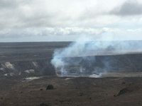Klauea Crater on the Big Island, Hawaii, after a small eruption the day before