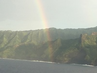 Pride of America sailed by the Na-Pali Coast, Kauai, Hawaii. This is only accessible by Air or Sea